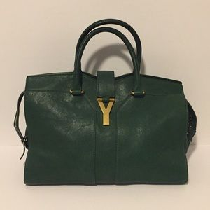 Yves Saint Laurent Grn Large Cabas Chyc Handbag!!